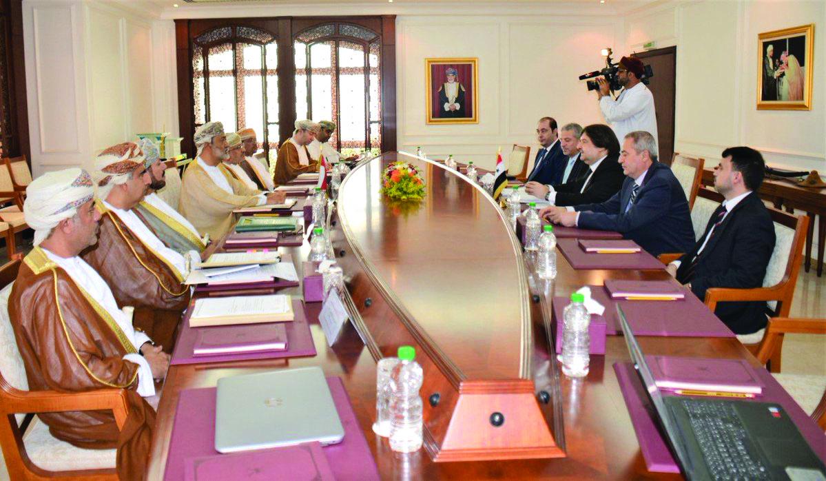 Sayyid Asaad bids farewell to Algerian ambassador