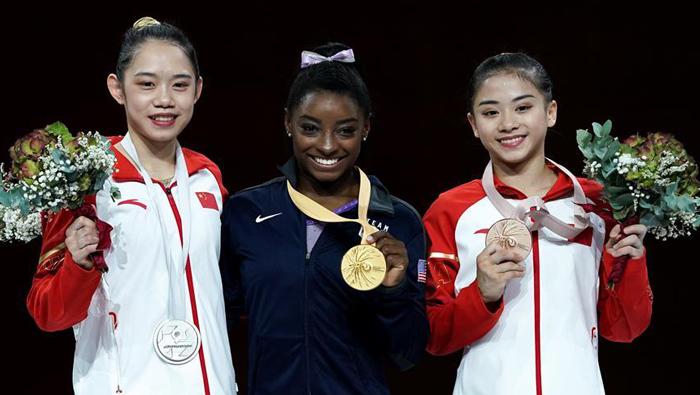China claims silver and bronze on balance beam at Gymnastics Worlds