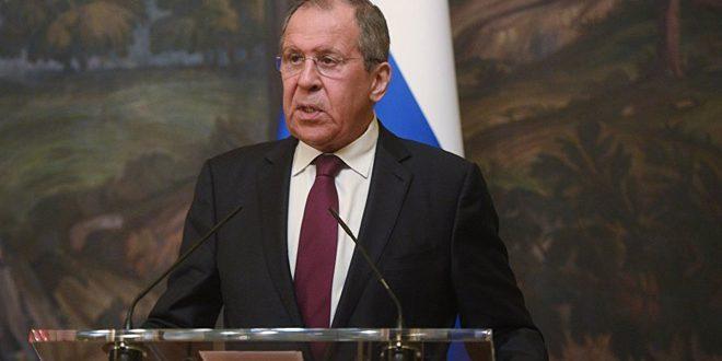 """""""لافروف"""" : لا ينبغي تسييس مكافحة الإرهاب لتحقيق أهداف خاصة"""