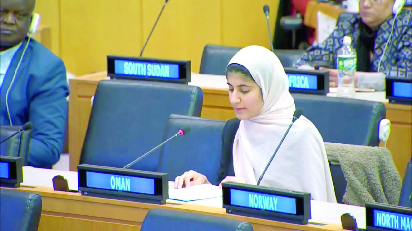 مندوبتا السلطنة تشاركان في برنامج الأمم المتحدة للشباب