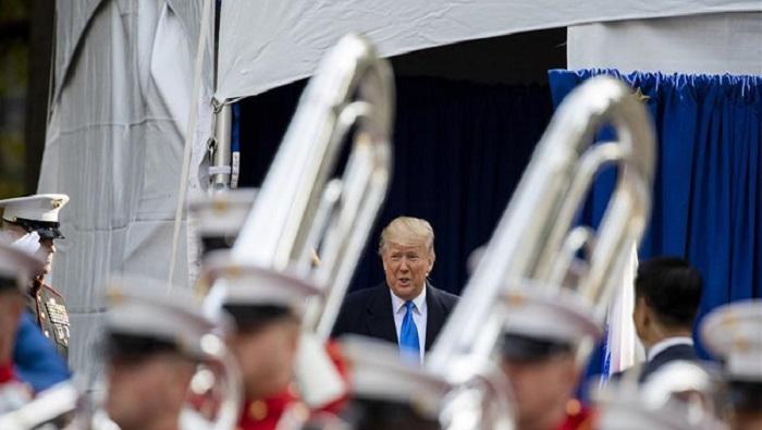 Trump kicks off centennial NYC Veterans Day Parade
