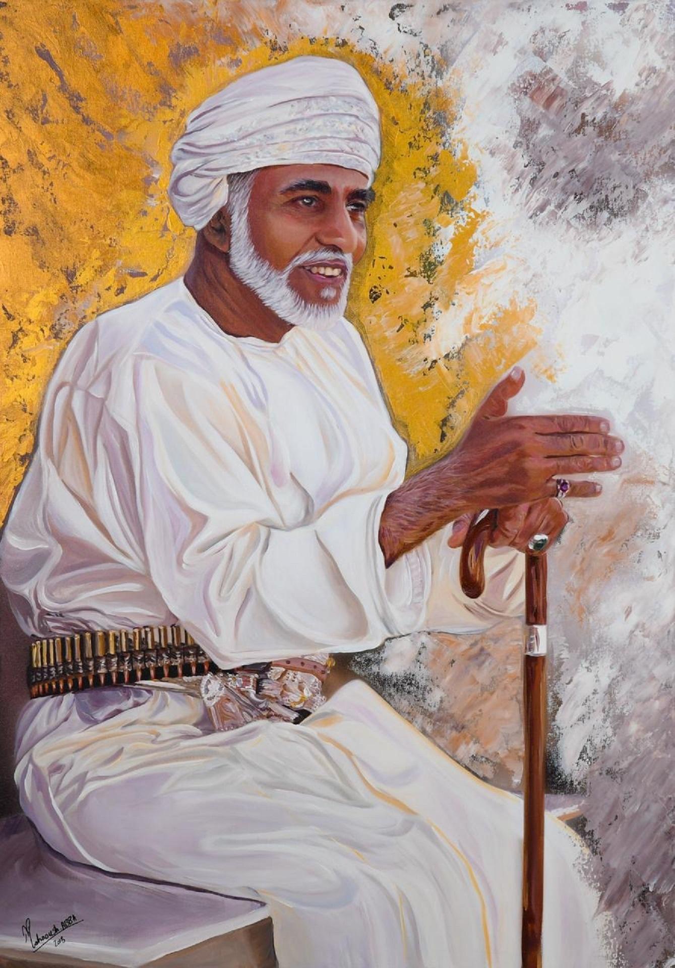 فنانة إيرانية ترسم لوحات لجلالة السلطان