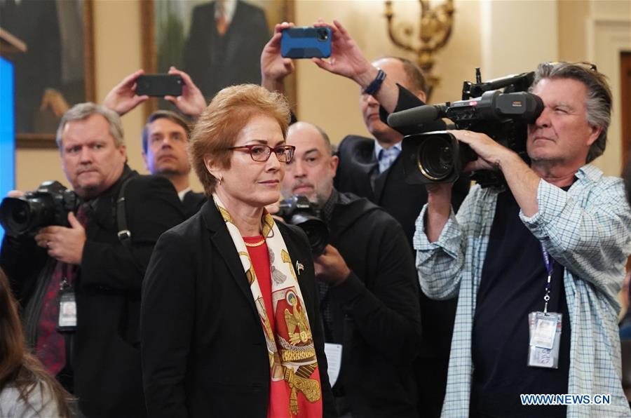 Former U.S. ambassador to Ukraine testifies over House impeachment inquiry
