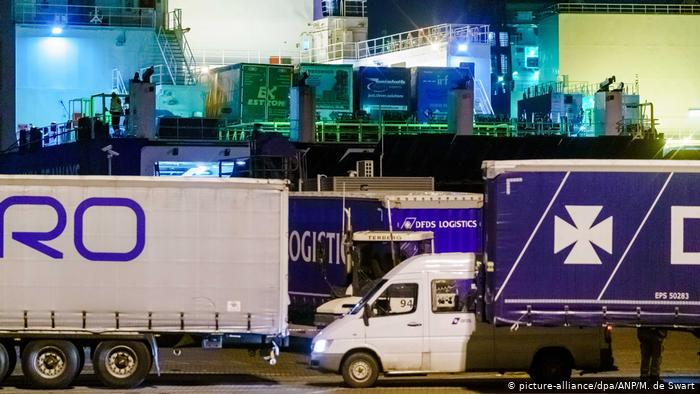 Dutch authorities find 25 migrants in refrigerated container on UK-bound ferry