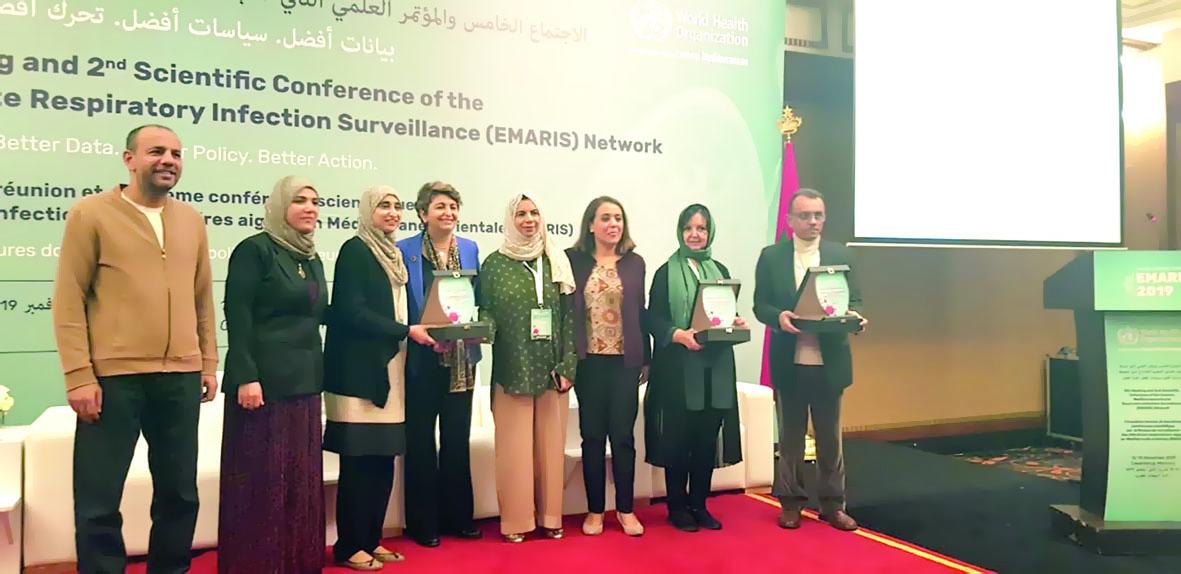 المختبرات المركزية تحصد جائزة دولية كأفضل مركز وطني للإنفلونزا