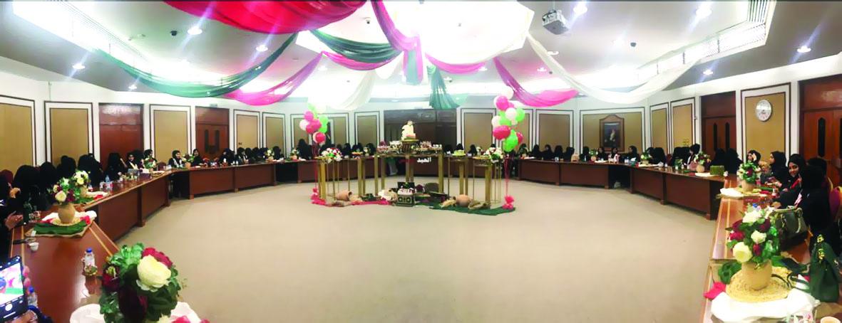احتفال موظفات مكتب وزير الدولة ومحافظ ظفار بالعيد الوطني