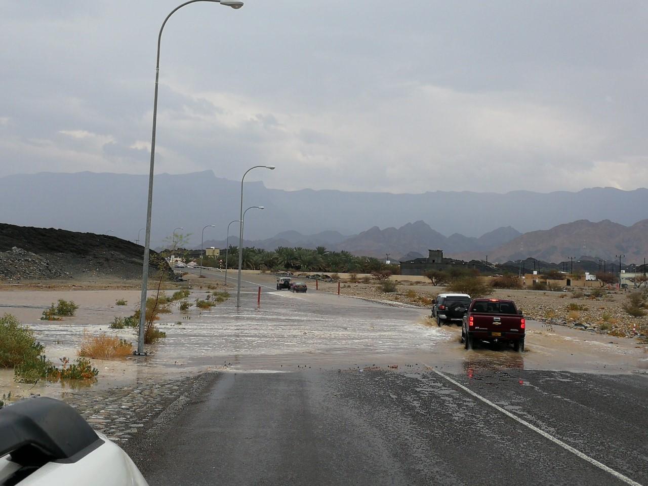 أمطار غزيرة وأودية جرت في المحافظات الشمالية
