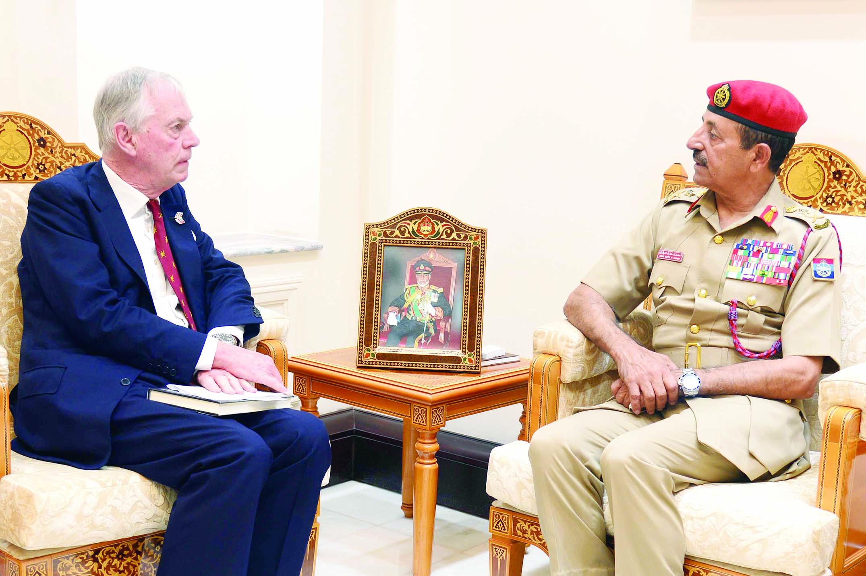 النبهاني يستقبل مستشار وزارة الدفاع البريطانية