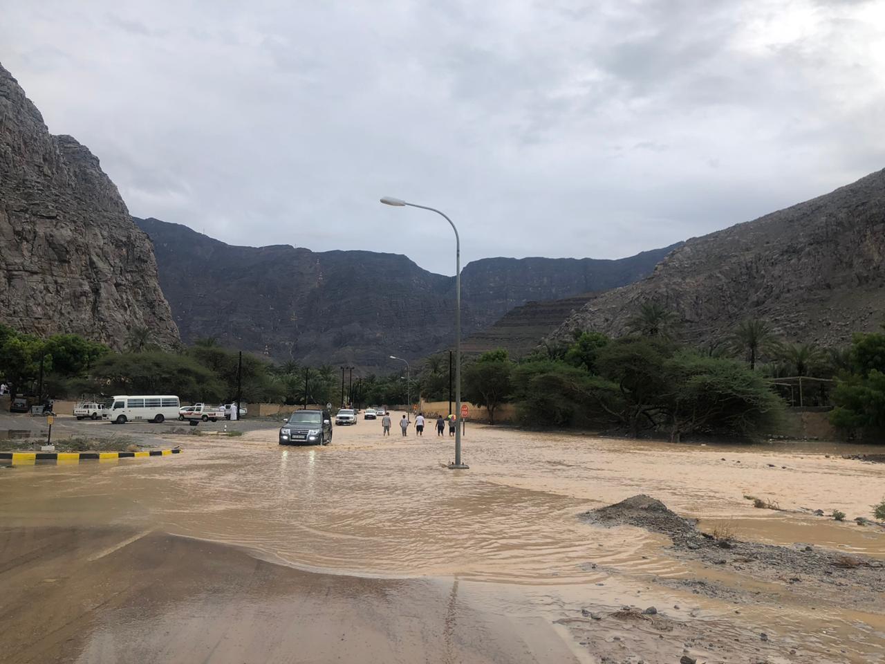هطول أمطار غزيرة على مسندم