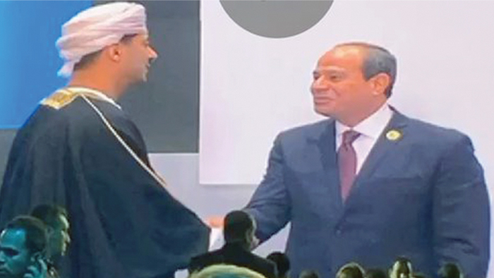His Majesty's greetings conveyed to Sisi