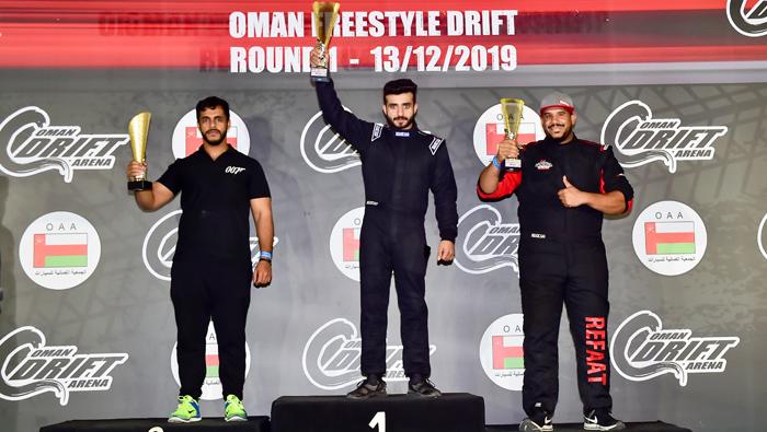 Zulkifl Al Said tops saloon car category of Oman Freestyle Drift championship