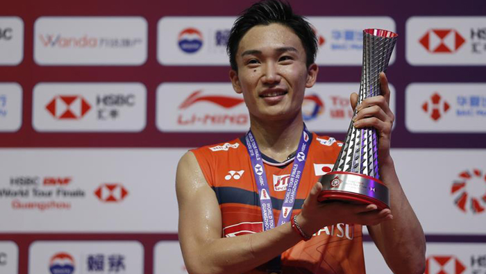 Japan's Momota claims record 11th title at BWF World Tour Finals