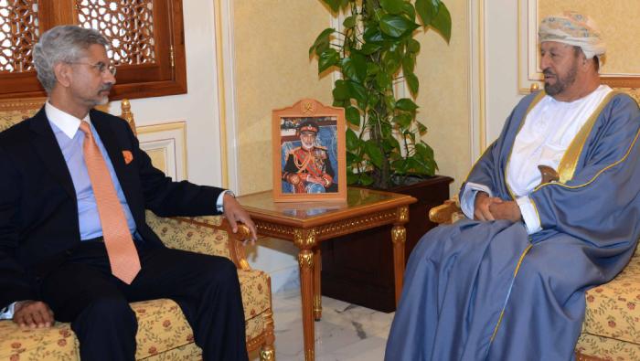 Al Busaidi receives India's external affairs minister