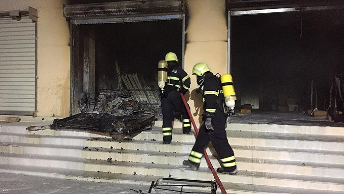 Warehouse catches fire in Oman