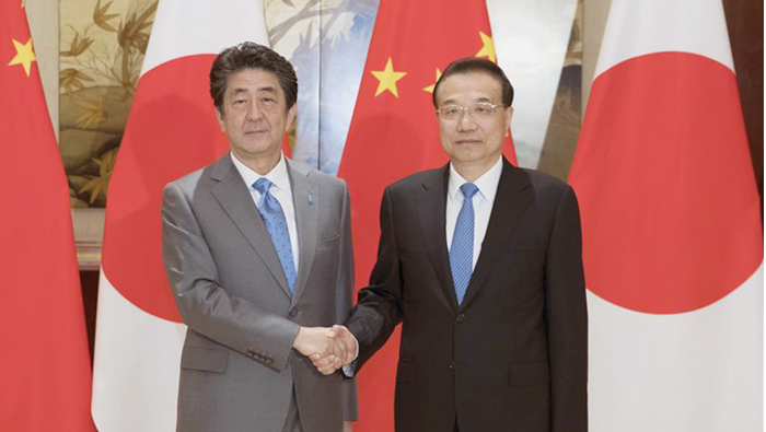 Chinese PM holds talks with Japanese counterpart
