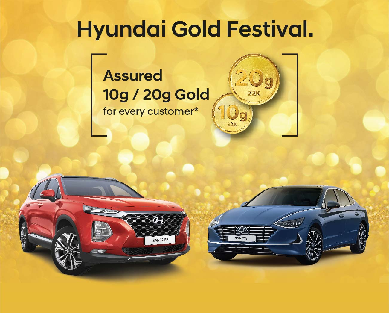 Hyundai offers 6 new models and assured Gold with every purchase!