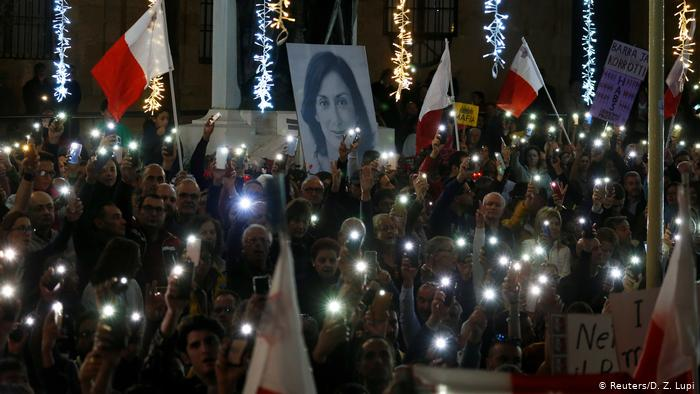 Protesters block Malta's lawmakers from leaving parliament in Valletta