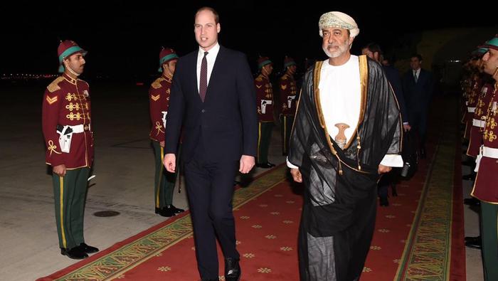 Sayyid Haitham receives Prince William