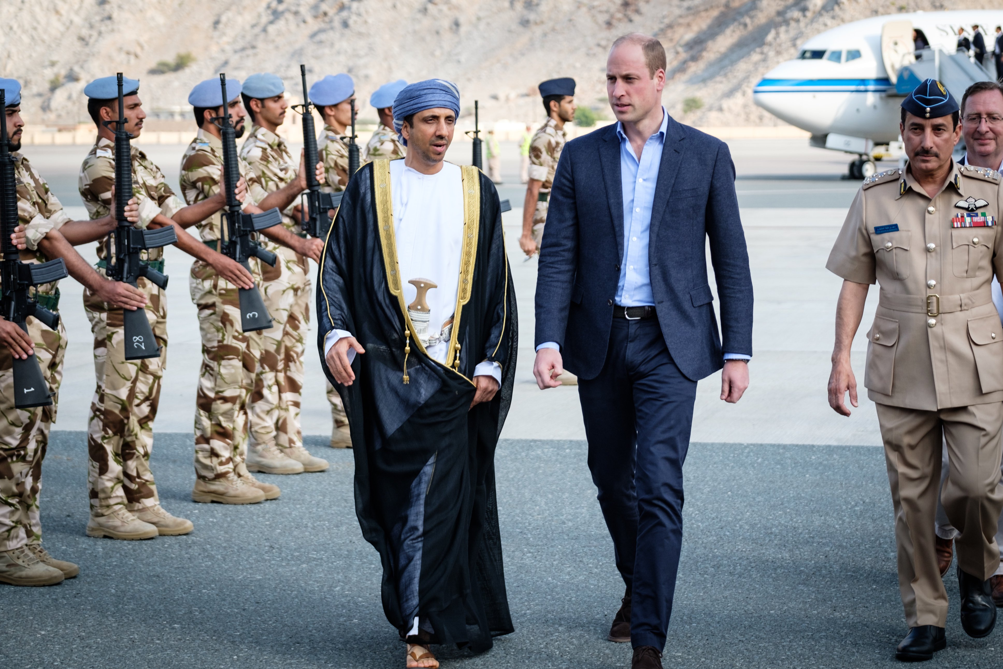 Prince William arrives in Oman