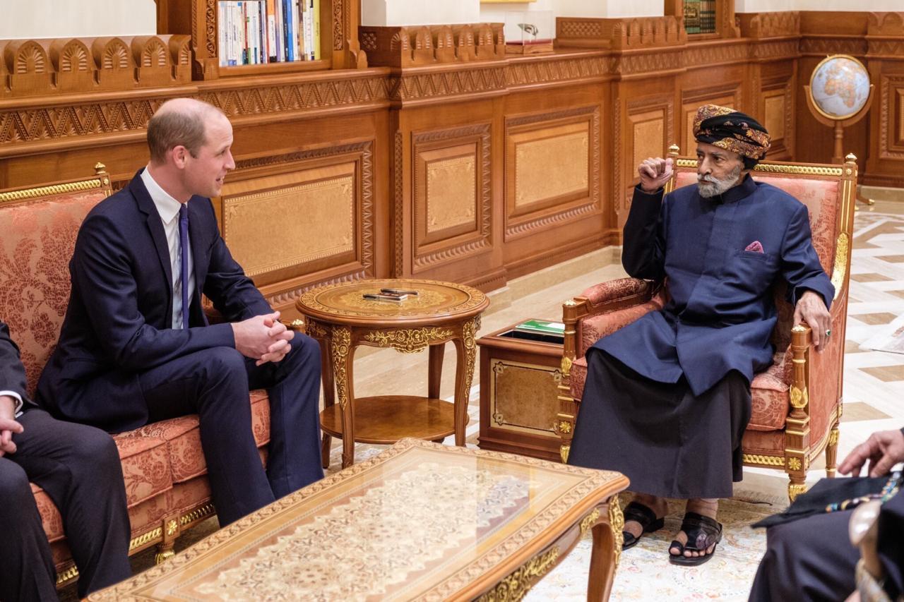 جلالة السلطان يستقبل دوق كامبريدج