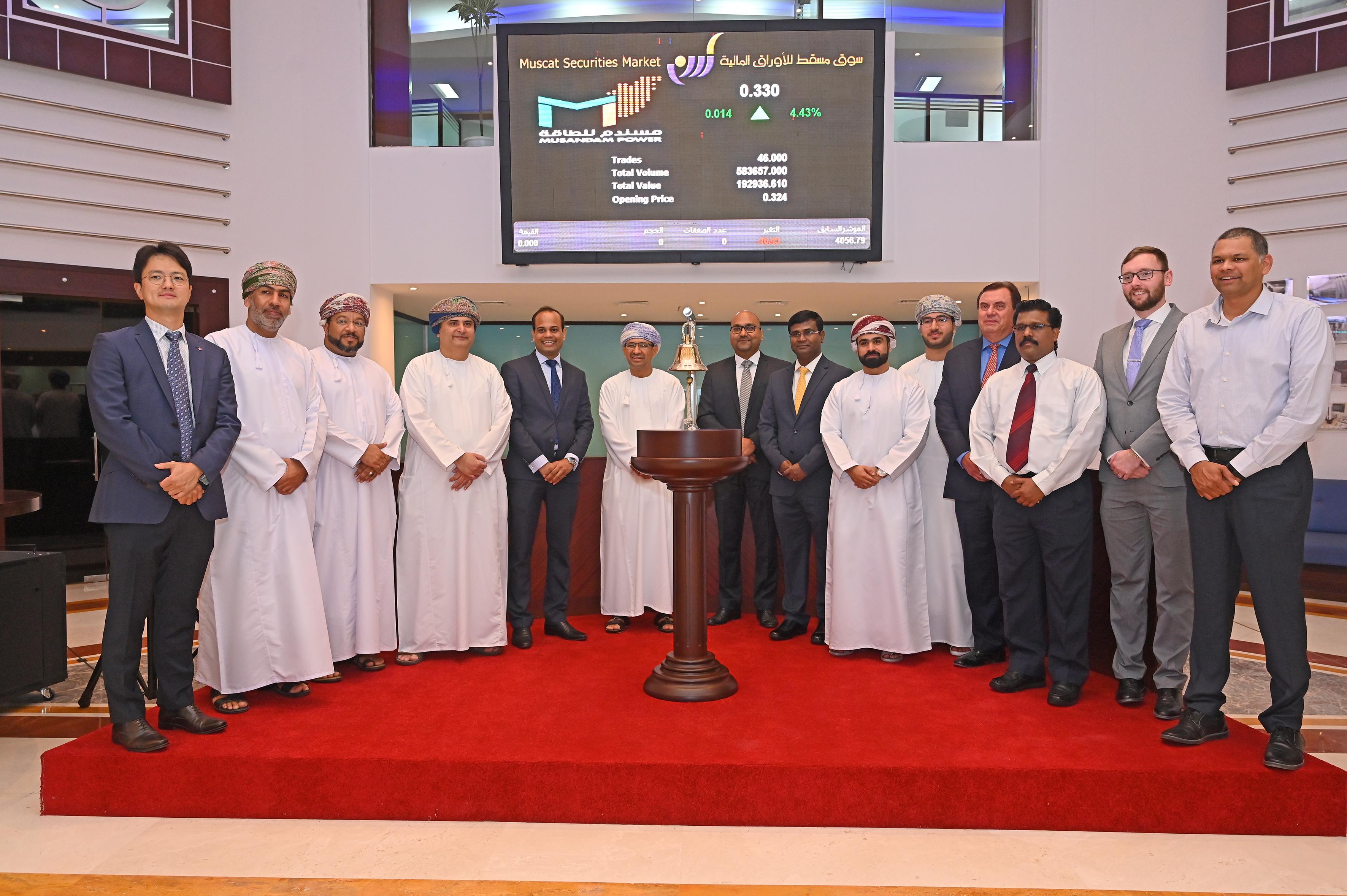 Musandam Power listed on Muscat Securities Market