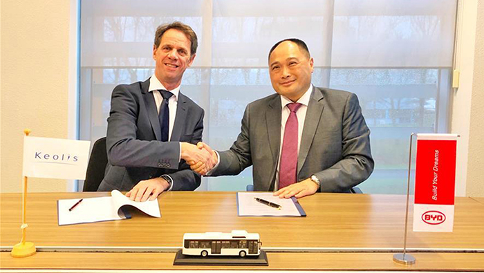 China's BYD lands large electric bus order in the Netherlands