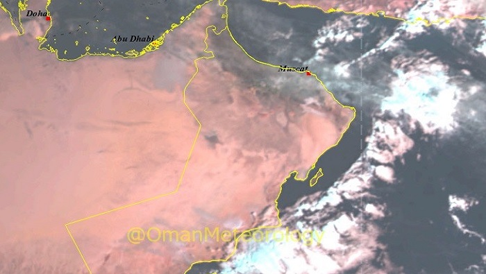 Isolated rain over parts of Oman