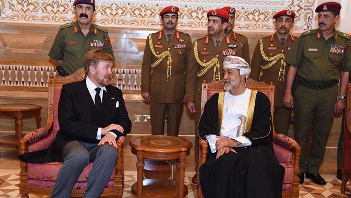 King of Netherlands arrives in Oman