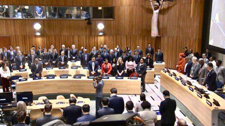 U.N. General Assembly observes minute of silence in mourning