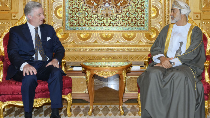 His Majesty Sultan Haitham receives the King of Belgium