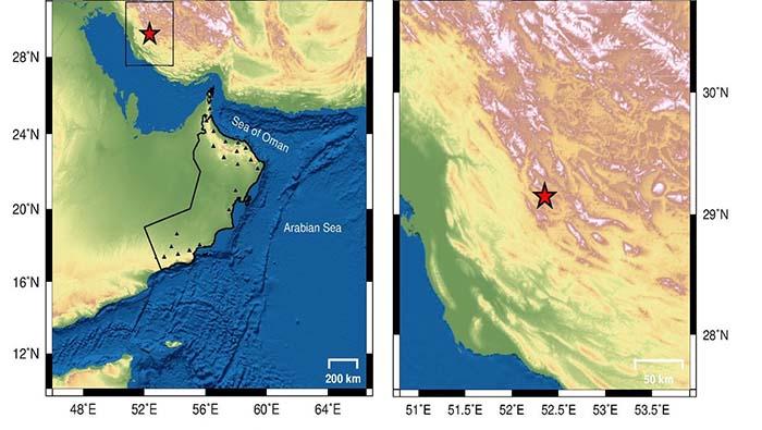 Earthquake in Iran, over 500 km away from Oman