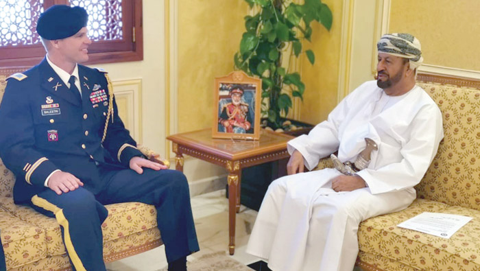 Sayyid Badr receives message from US Defence Secretary