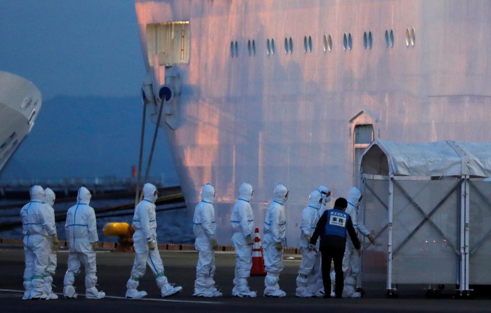 39 إصابة جديدة بفيروس كورونا على متن سفينة يوكوهاما السياحية في اليابان
