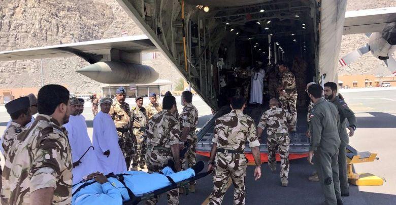 سلاح الجو السلطاني يقوم بعملية إخلاء طبي لمواطن يعاني من حالة صحية حرجة