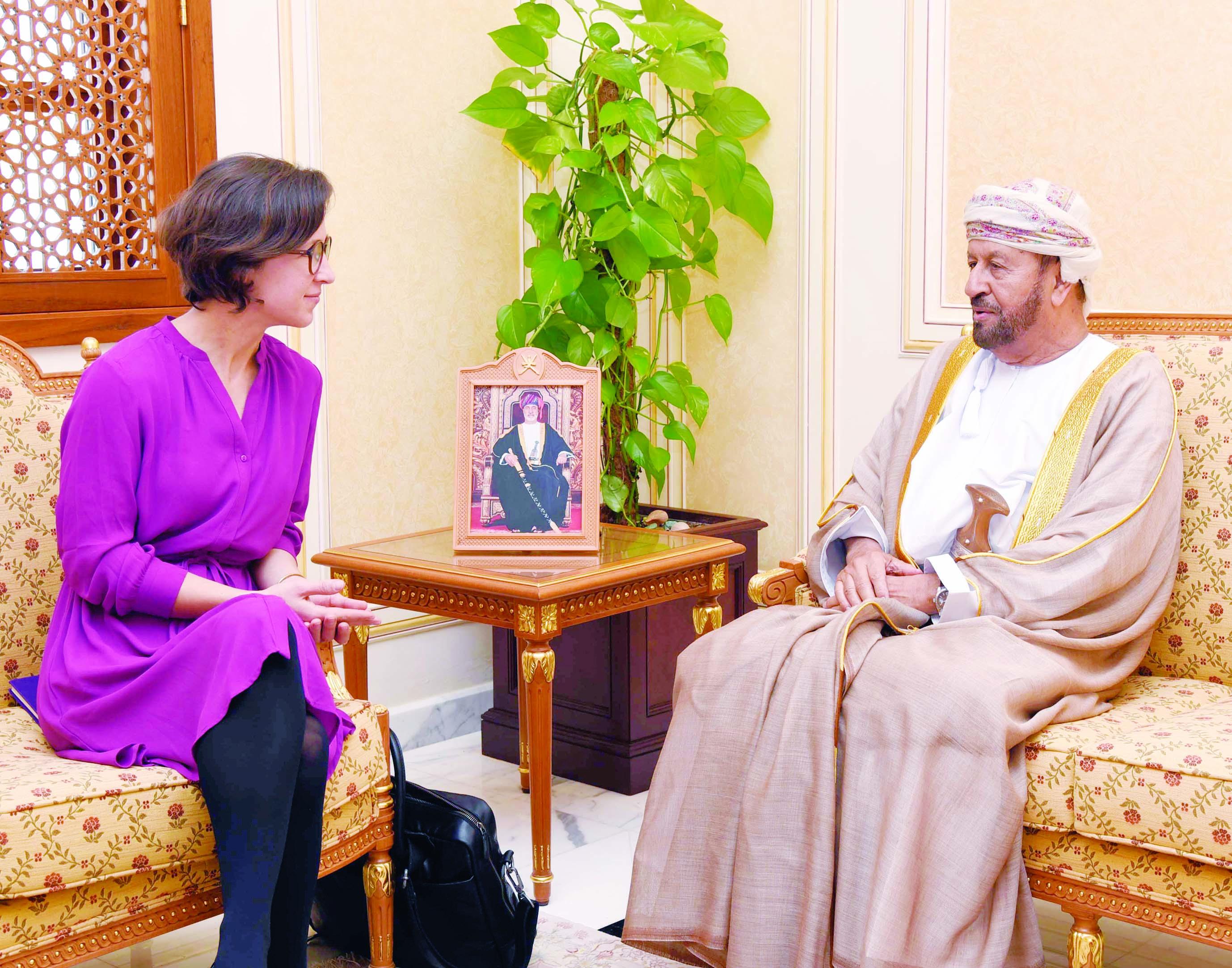 بدر بن سعود يستقبل وفد البرلمان الأوروبي للعلاقات مع شبه الجزيرة العربية