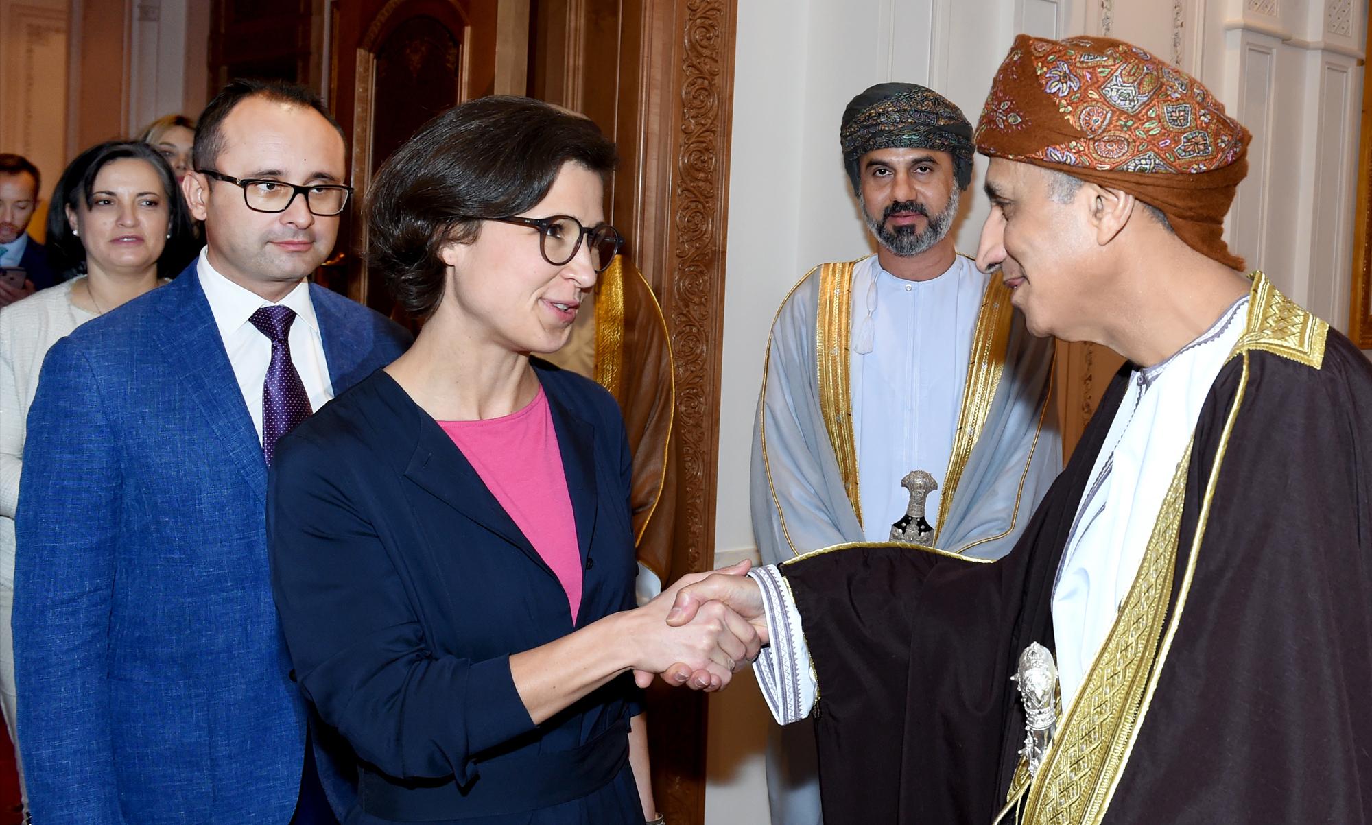 السيد فهد يستقبل رئيسة وفد العلاقات مع شبه الجزيرة العربية في البرلمان الأوروبي