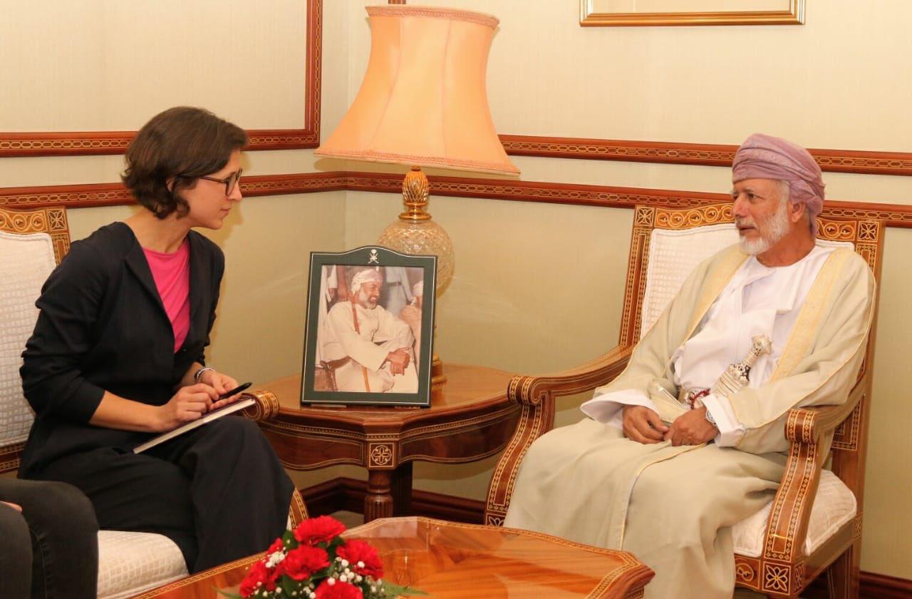 بن علوي يستقبل رئيسة وفد العلاقات مع شبه الجزيرة العربية في البرلمان الأوروبي