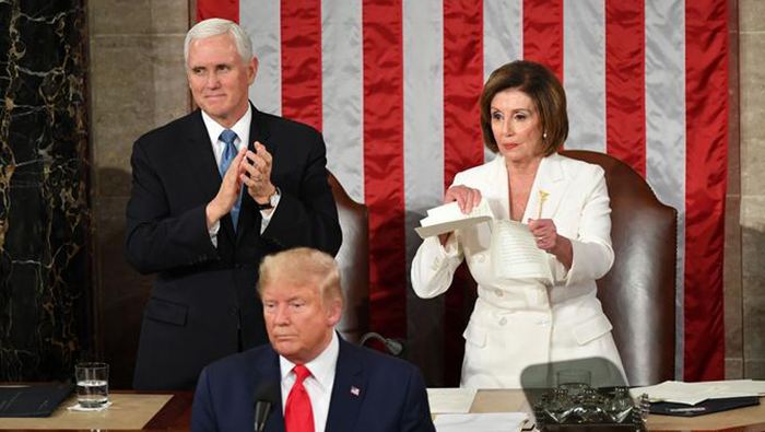State of the Union: Donald Trump heralds America's 'blazing' future