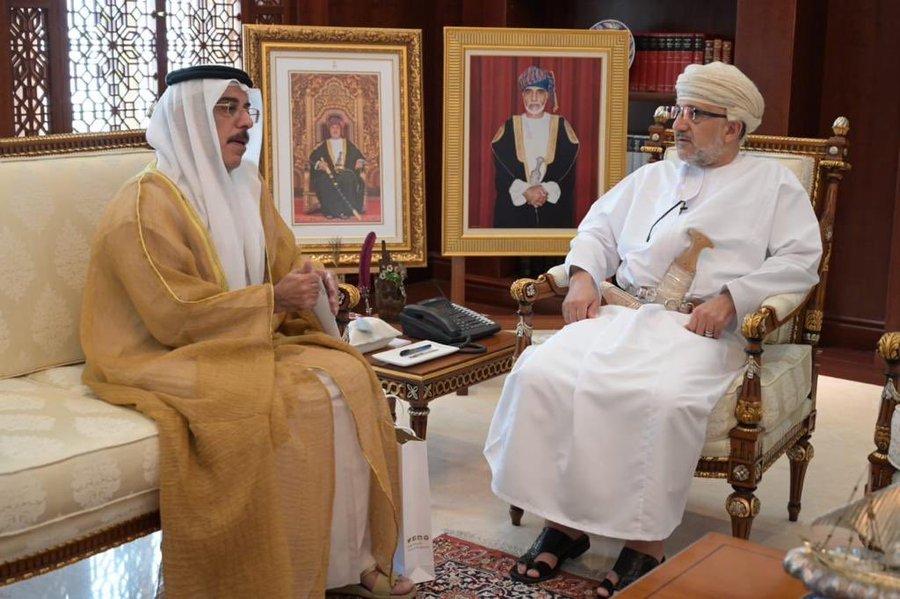 المحروقي يستقبل سفير الإمارات المعتمد لدى السلطنة
