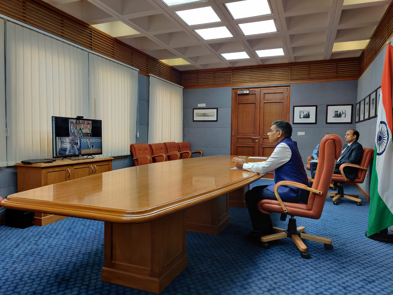 India PM Modi holds video conference with the Heads of Indian Missions