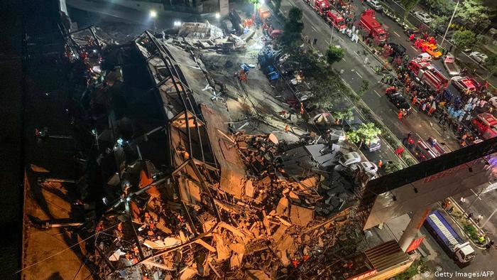 China: 'Coronavirus quarantine' hotel collapses, trapping dozens