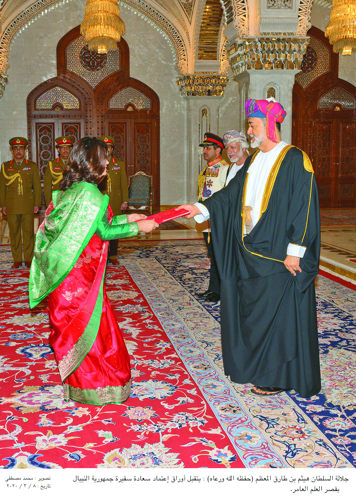 His Majesty the Sultan receives credentials of ambassadors