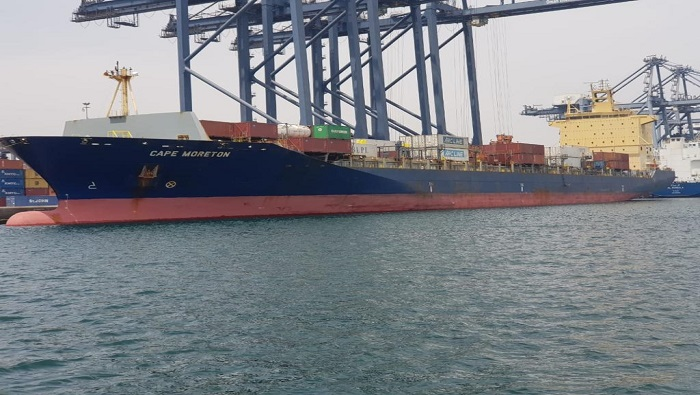 Cargo ship arrives in Oman with goods from India