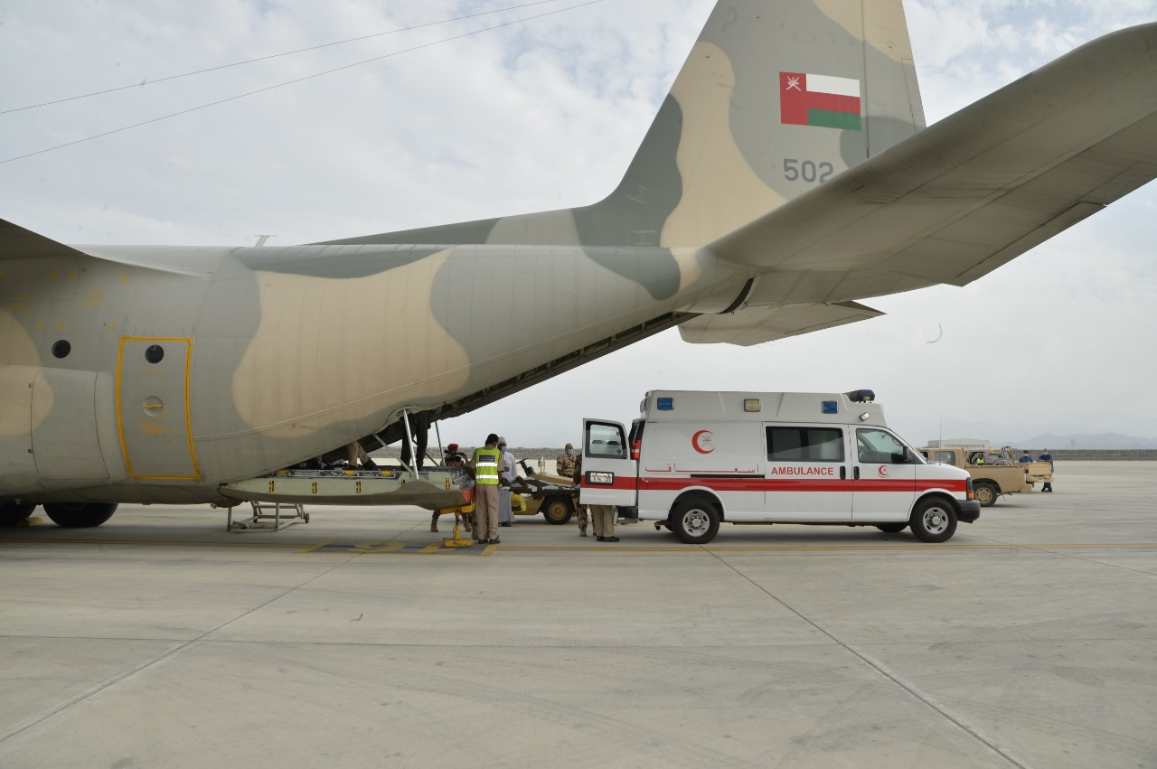 Royal Armed Forces evacuate patients from Dhofar to Muscat