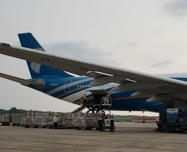 Oman Air operates flights to India for supplies