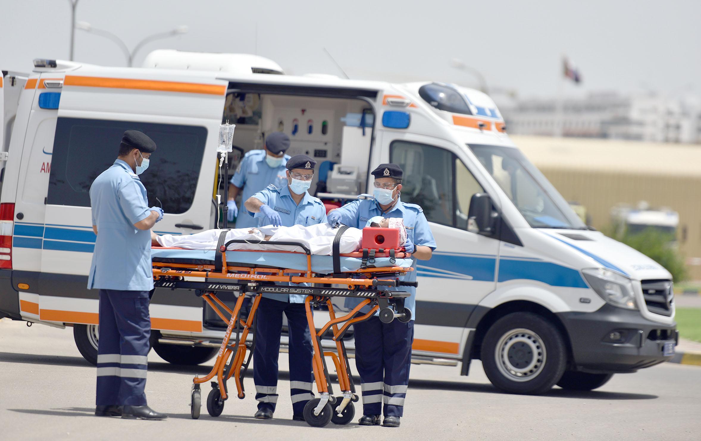 الدفاع المدني والإسعاف تساند قطاع الإستجابة الطبية