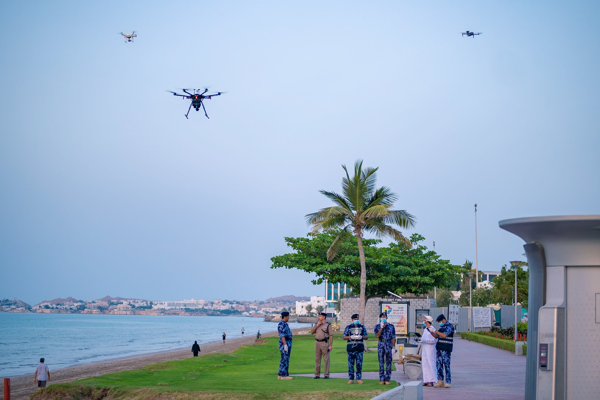 ROP using drones to ensure people maintain social distancing