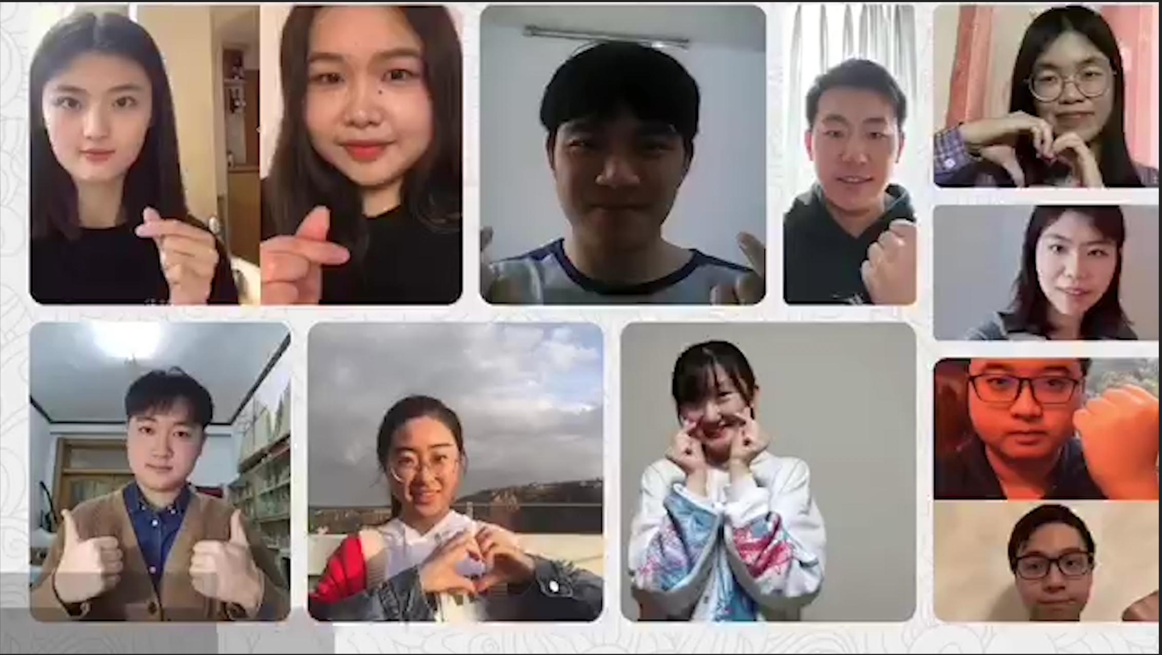 """بالفيديو.. شاهد رسالة الصينيين للعمانيين عبر """"الشبيبة"""": نقف معكم في مواجهة """"كورونا"""""""