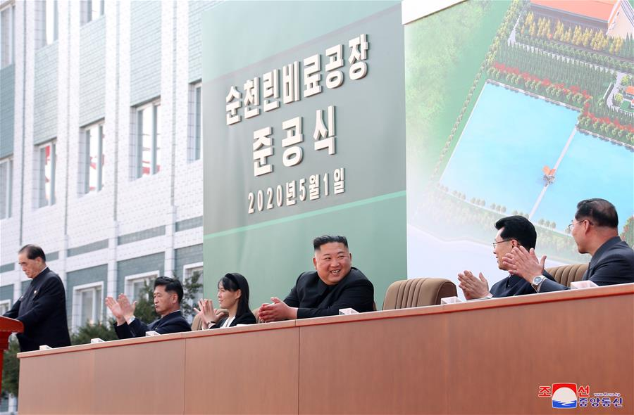 North Korea leader Kim Jong Un makes first public appearance in weeks