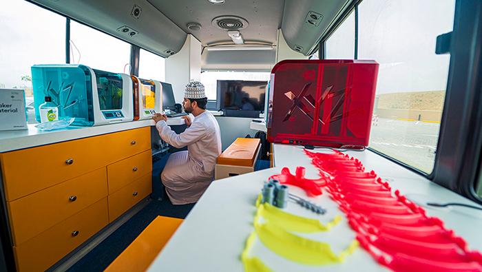 Omantel harness its CSR initiatives to provide medical equipment using 3D printers